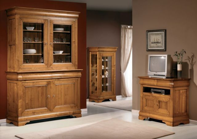 meuble tv style louis philippe. Black Bedroom Furniture Sets. Home Design Ideas
